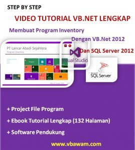 Video Tutorial VB.Net Lengkap Program Inventory